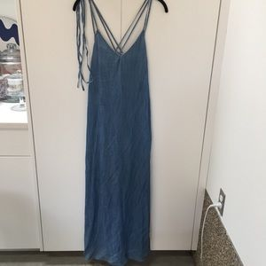 GAP MAXI LIGHTWEIGHT CHAMBRAY DRESS